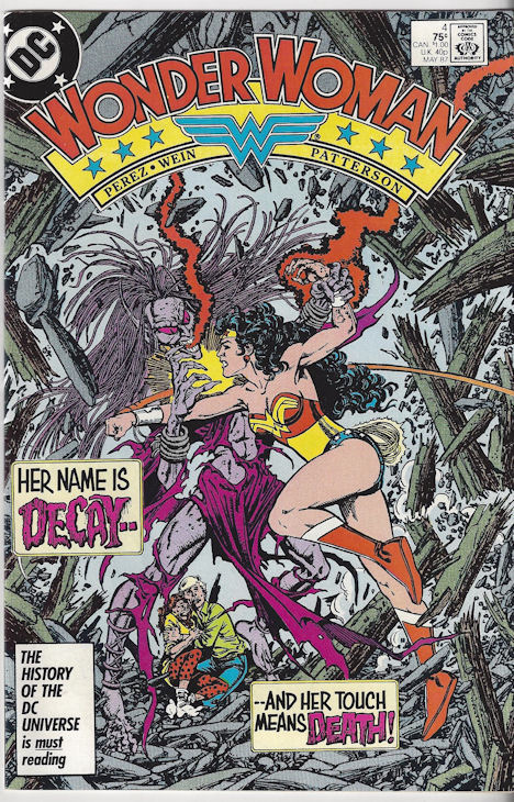 """Wonder Woman Vol 2 #4 May,                                         1987 - """"A Long Day's                                         Journey Into Fright!"""""""