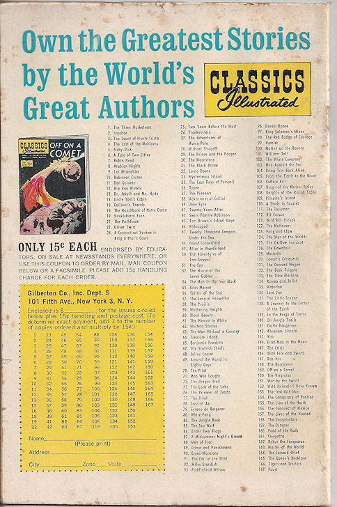 Classic Illustrated No. 125                                         The Ox-Bow Incident 1955
