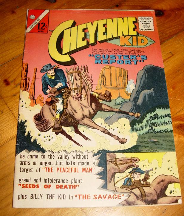 "Charlton Comic 12c Cheyenne                                         Kid ""Custer's Report""                                         Vol 1 No 39 April 1963"