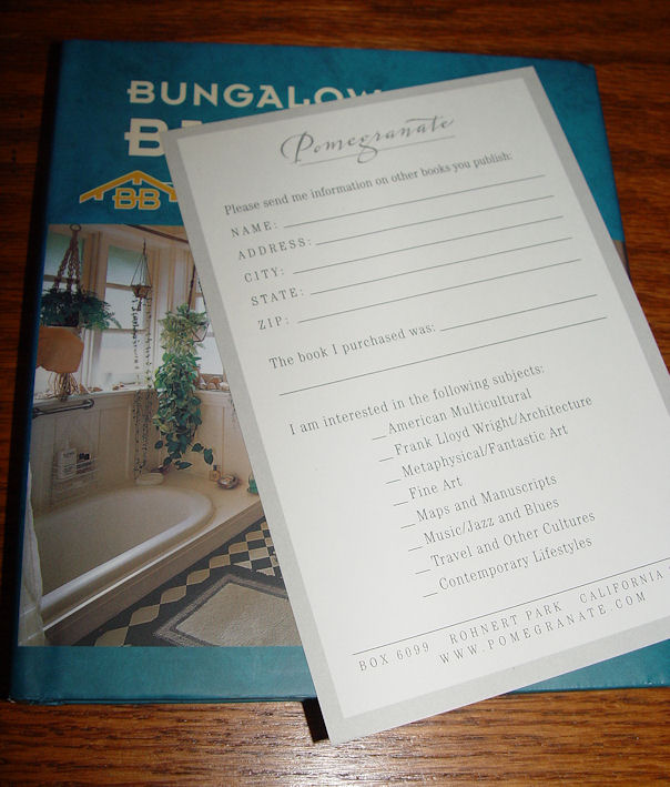 Bungalow Basics Bathrooms                                         by Paul Duchscherer &                                         Douglas Keister, Pomegranate                                         Communications 2004