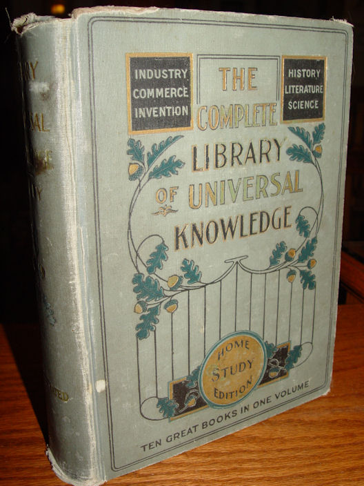 1904 The Complete Library                                         of Universal Knowledge - Ten                                         Great Books in One Volume - Home                                         Study Edition Ferdinand                                         Ellsworth Cary