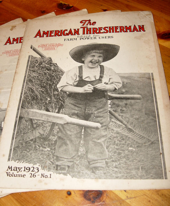 Jan thru Dec (Full year)                                         Rare 1923 The American                                         Thresherman Agricultural Farm                                         Magazines