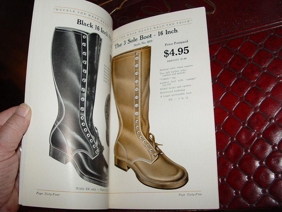 Doublewear at Minneapolis ~                                         Fall-Winter 1936 Finer Shoes For                                         Men Rare Mint Fashion Catalog
