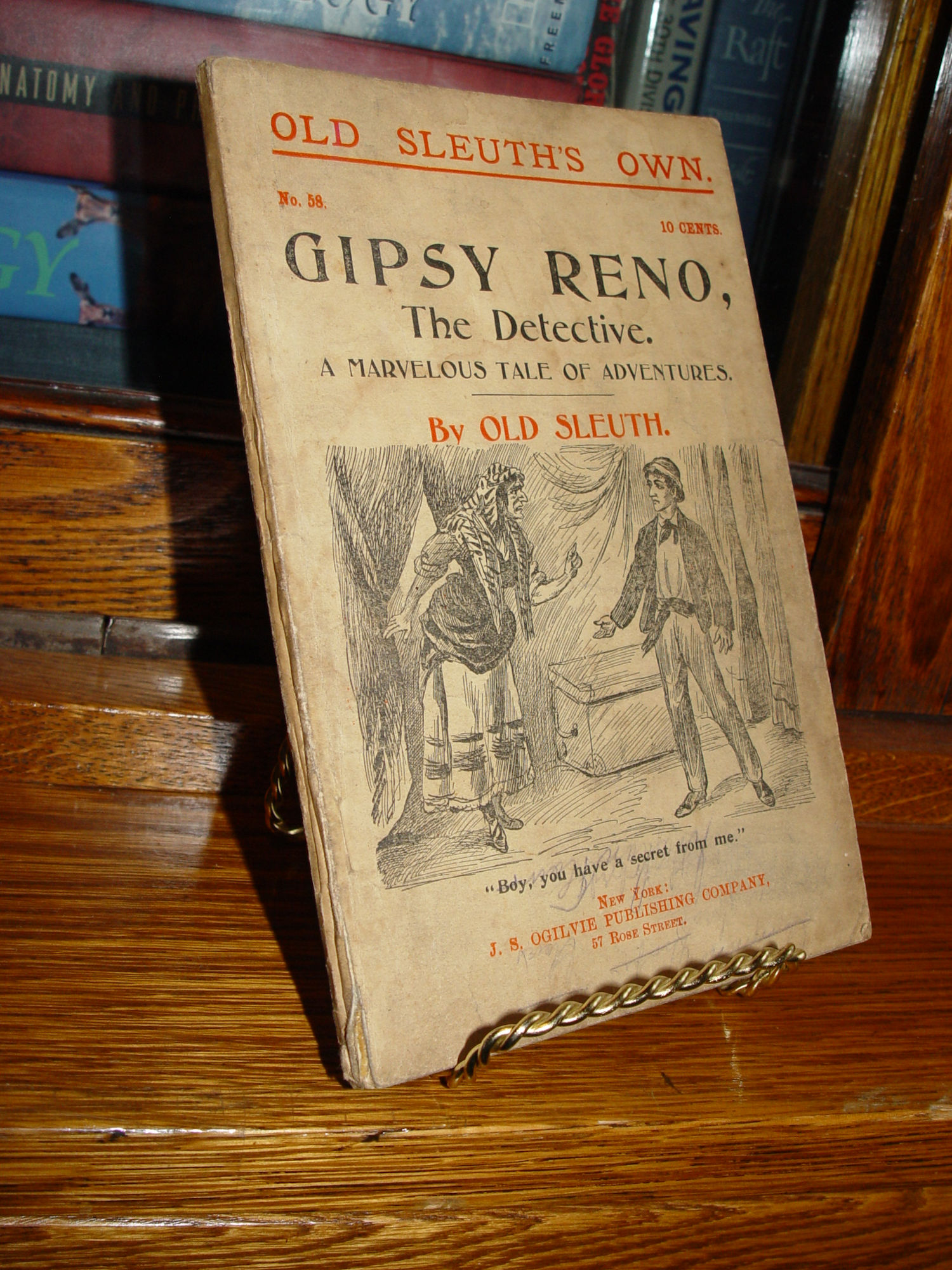 No 58 -- Gipsy Reno, The                                         Detective. A Marvelous Tale of                                         Adventures by Old Sleuth                                         Published by J. S. Ogilvie                                         Publishing Company 1896