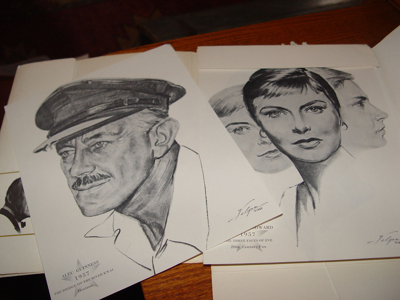 A Complete Portrait                                         Collection of Academy Award                                         Winners, Best Actor Award and                                         Best Actress Award Suitable for                                         Framing. 1962 Artist Nicholas                                         Volpe