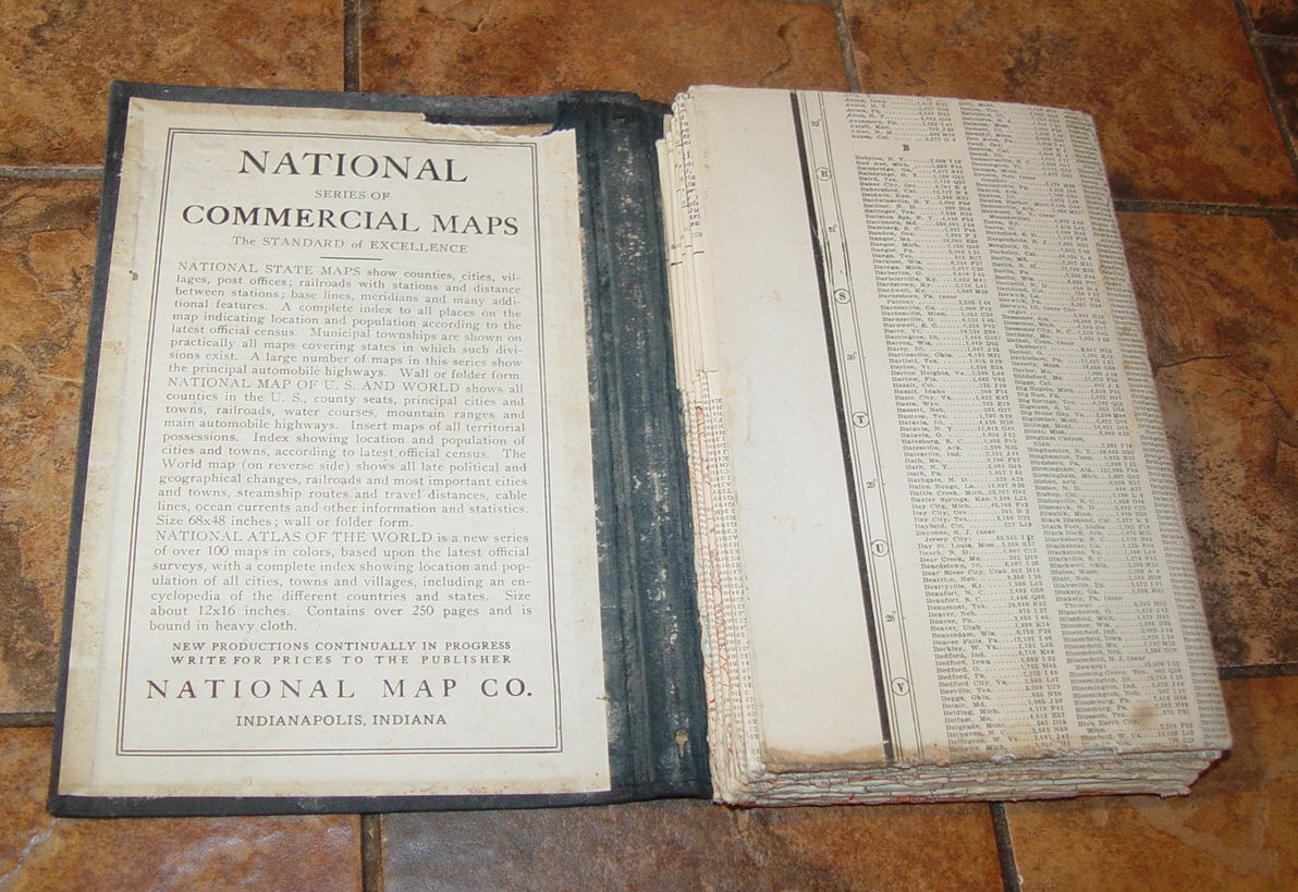 National Map Co.                                         Indianapolis Indiana, National                                         Series of Commercial Maps World                                         & US 1919 New Standard Map                                         of the United States Showing                                         States in Different Colors,                                         Counties, Cities, Villages and                                         Stations With Distances in                                         Statute Miles Along Railroads                                         and Other Features - Completely                                         Indexed. | New Standard Map of                                         the World Showing Countries And                                         Their Colonies, Principal                                         Transportation Lines, Etc.