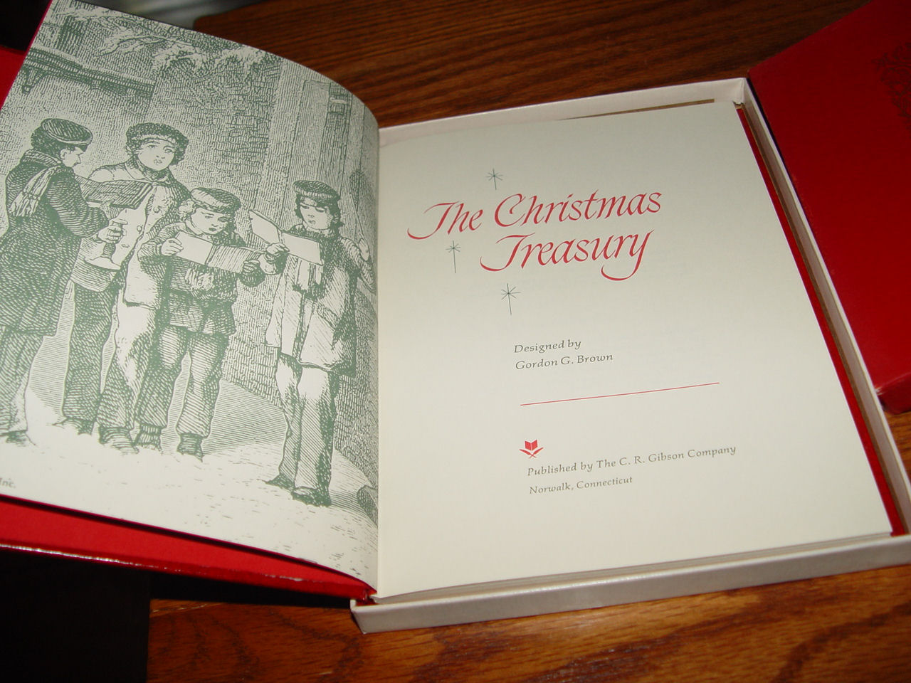 The Christmas                                         treasury, Gordon Brown ;                                         Published by C. R. Gibson Co,                                         1969 Norwalk, CT