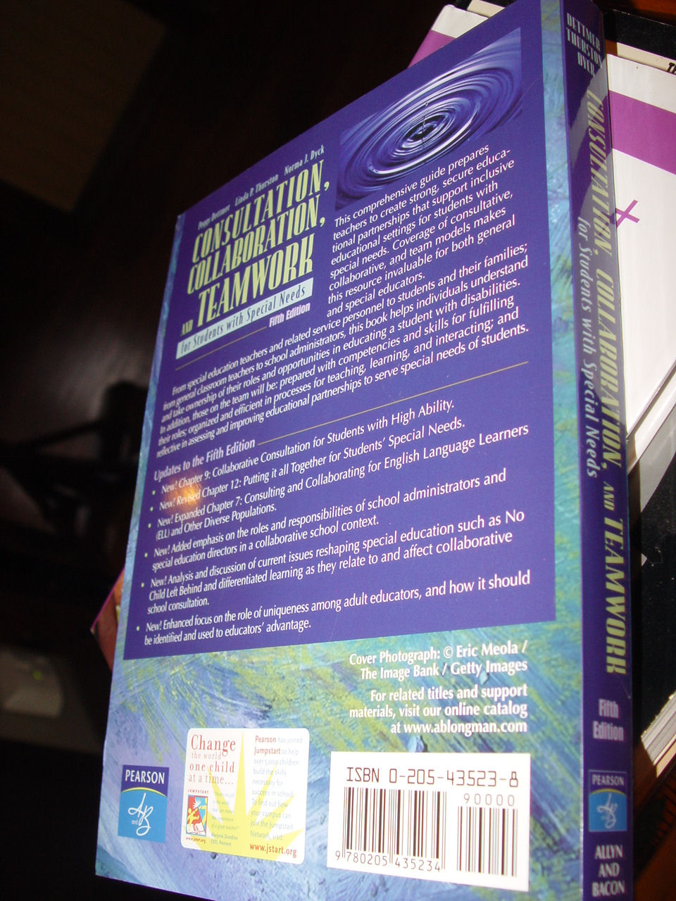 Collaboration,                                         Consultation, and Teamwork for                                         Students with Special Needs (5th                                         Edition) by Peggy Dettmer, Linda                                         P. Thurston, Norma J. Dyck 1993