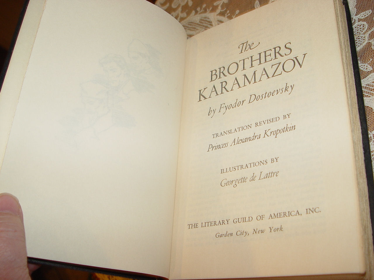 The Brothers                                         Karamazov by Fyodor Dostoevsky ~                                         The Literary Guild of America                                         (1953)