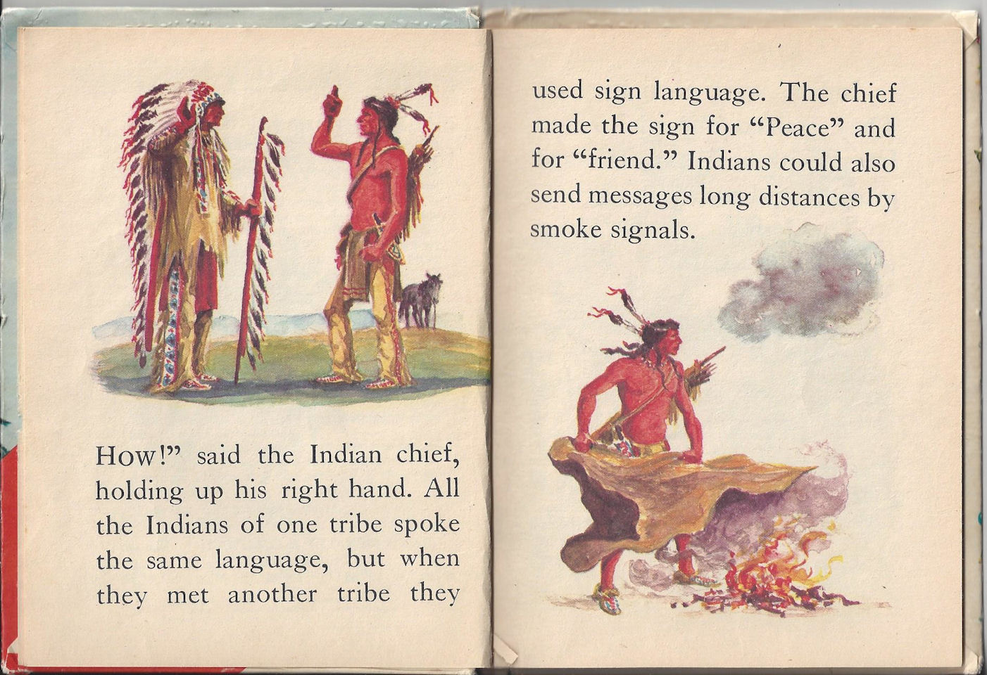 1968 My Indian Book                                         Children's Elf Book ~ Rand                                         McNally Publisher