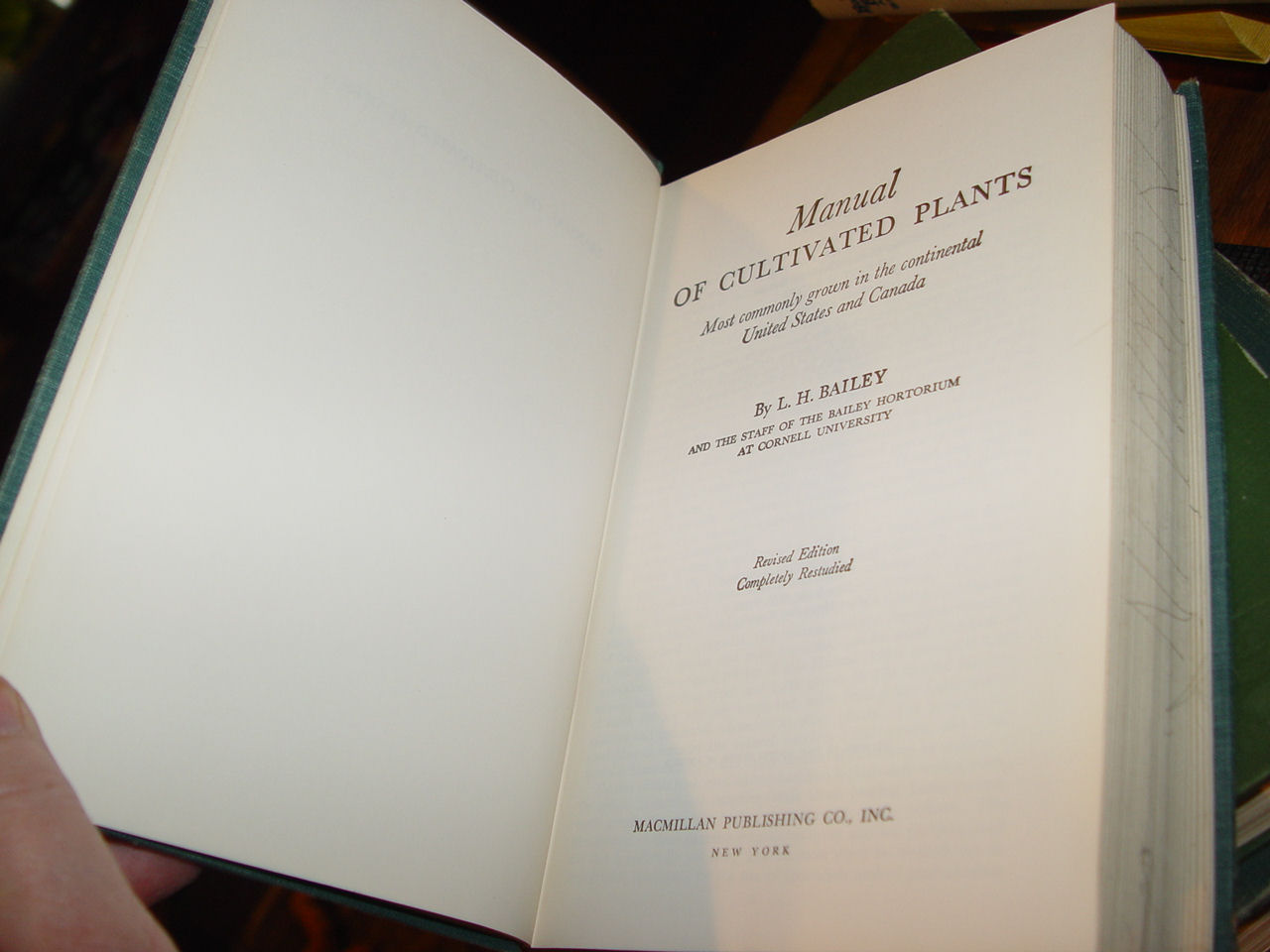 Manual Of                                         Cultivated Plants, Most Commonly                                         Grown in the Continental United                                         States and Canada Hardcover –                                         1977 by L. Bailey