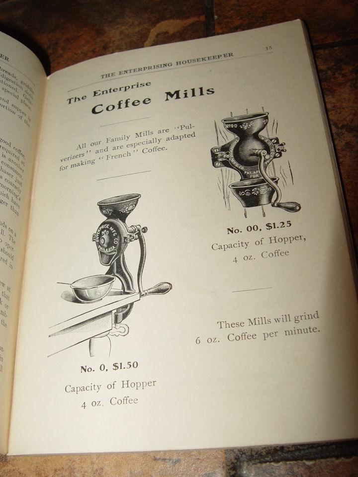 Rare 1902 'The                                         Enterprising Housekeeper' Recipe                                         Book by Helen Johnson ~                                         Enterprise Grinder, Seeder etc.