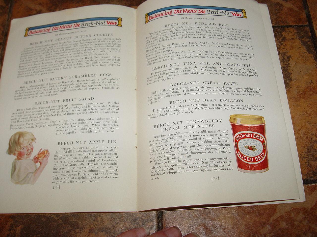 The Beech-Nut Book                                         of Menus & Recipes, Ida                                         Bailey Allen, 1924 Edition