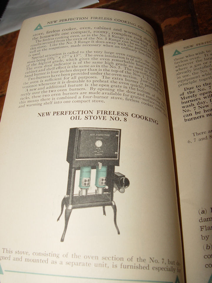 New Perfection Cook                                         Book and Directions for                                         Operating New Perfection Oil                                         Stoves 1910?