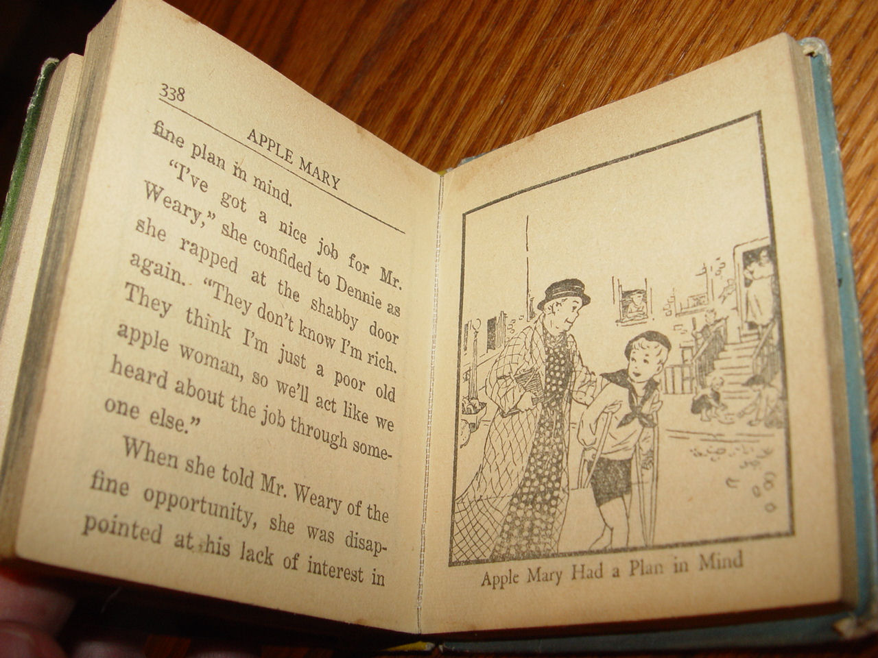 Apple Mary and                                         Dennie's Lucky Apples ~ Big                                         Little Book by Martha Orr 1939                                         Whitman