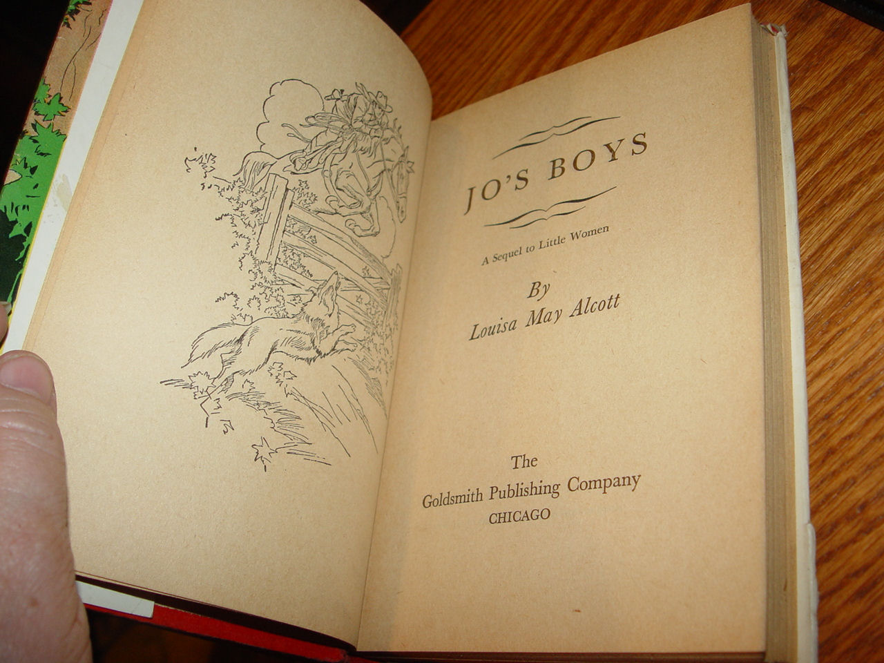 JO'S BOYS ALCOTT,                                         LOUISA MAY Published by THE                                         GOLDSMITH PUBLISHING COMPANY,                                         ILLINOIS