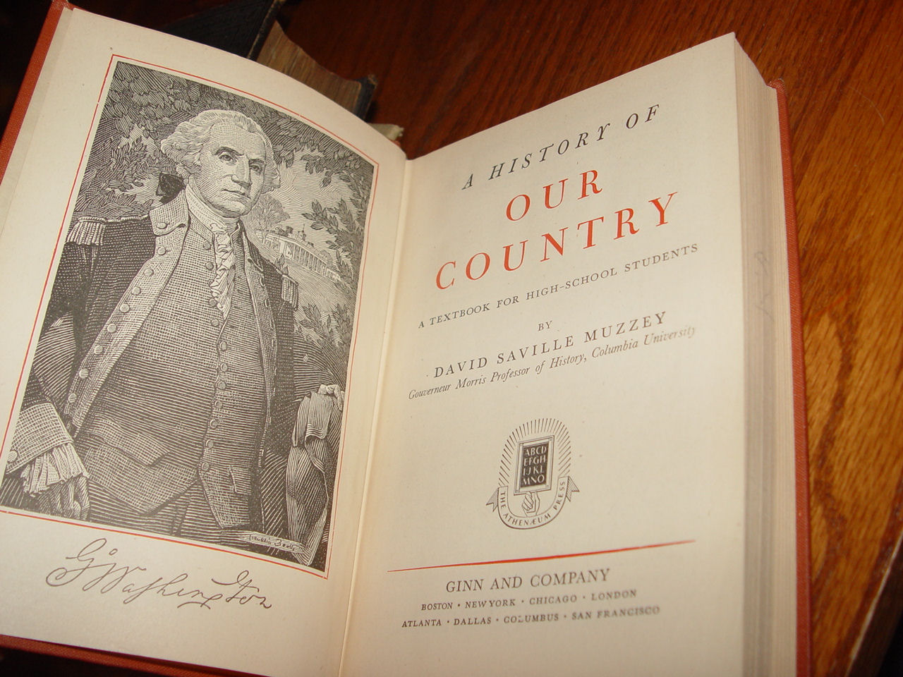A History of Our                                         Country by David Saville Muzzey;                                         Ginn and Company, 1945